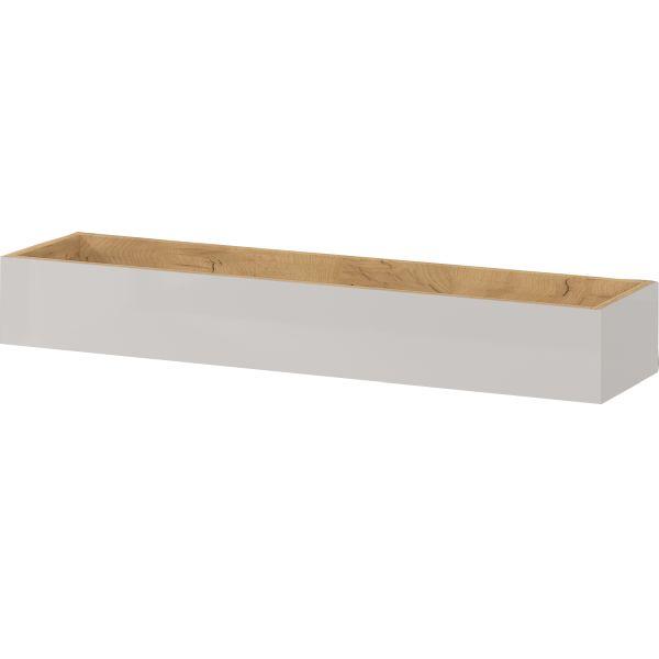Wandplank Mesa 101 cm in cashmere met eiken - Germania