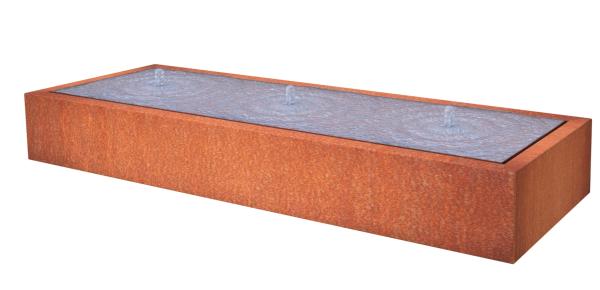 Watertafel rechthoekig corten