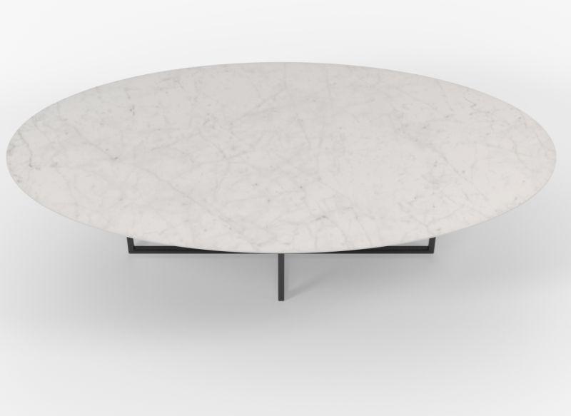 Witte ovale eettafel Cyriel in Carrara keramiek - Unit 14