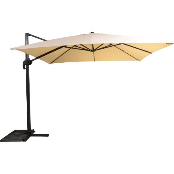 Outdoor Living Virgo zweefparasol 300x300 ecru