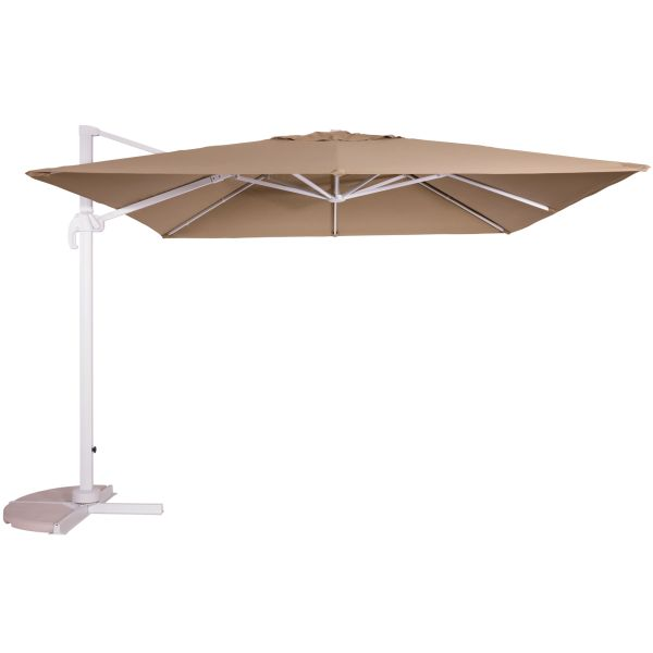 Outdoor Living Virgo zweefparasol 300x300 sand